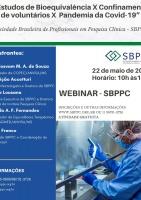 """Webinar: """"Estudos de Bioequivalência X Confinamento de Voluntários X Pandemia da Covid-19"""""""