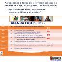 Reunião do Focep do dia 30 de agosto de 2021