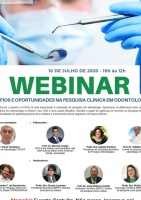 Webinar: Desafios e Oportunidades na Pesquisa Clínica em Odontologia